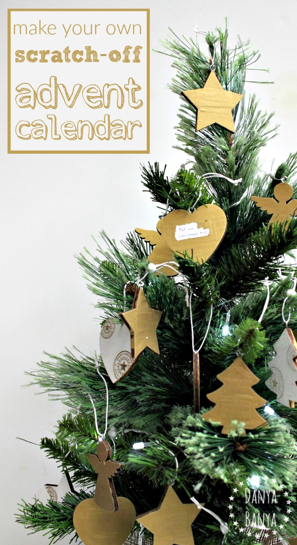 Diy Scratch Off Advent Calendar Ornaments Danya Banya