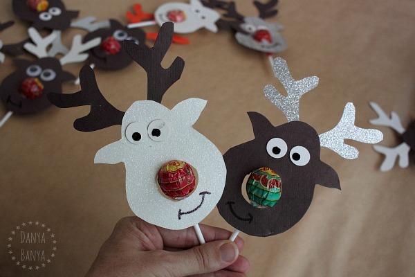 Cutest ever Rudolph Reindeer Lollipop class gifts for kids