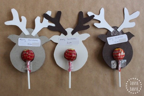 How the Rudolph lollipops look from the back