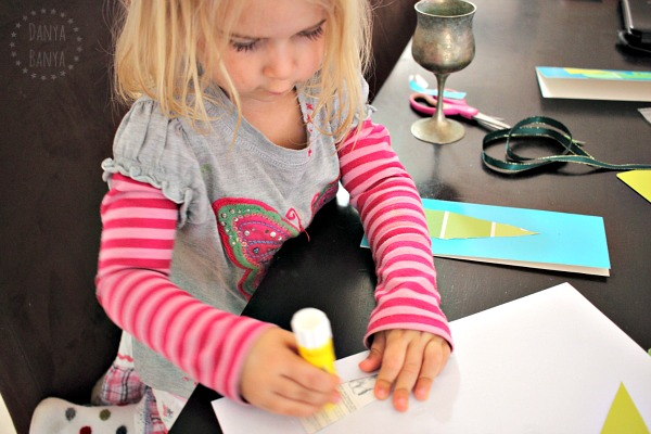 Making paint swatch Christmas cards