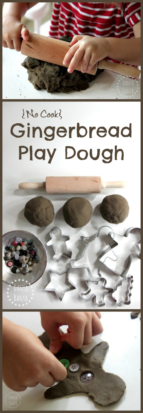 {No cook} gingerbread play dough - fun Christmas sensory and imaginative play for kids