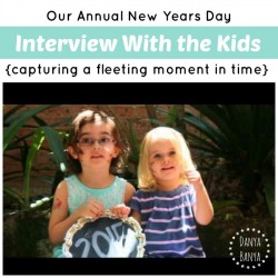 Our annual new years day interview with the kids