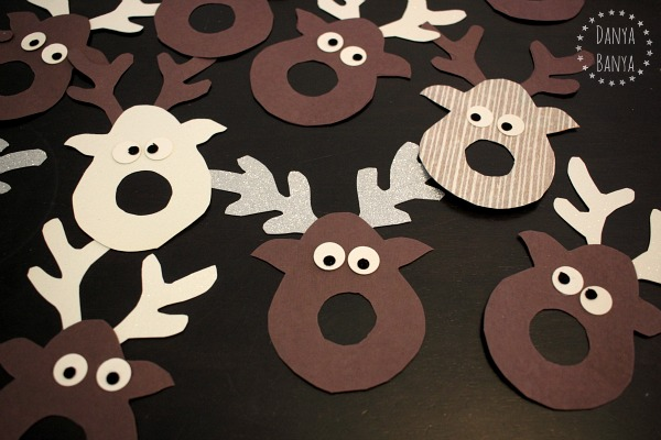 Reindeer faces - add a red lollipop nose