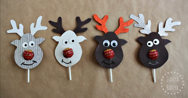 Rudolph Lollipop kids class gifts for Christmas
