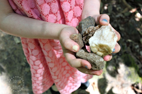 Travelling with kids collecting nature (in this case rocks)