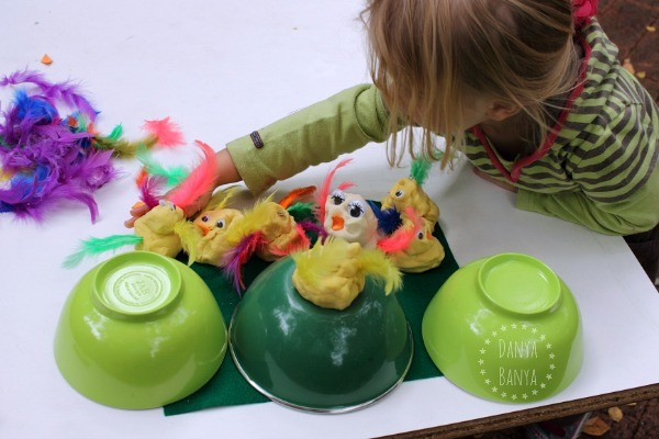 Five Little Duck nursery rhyme play dough sensory play