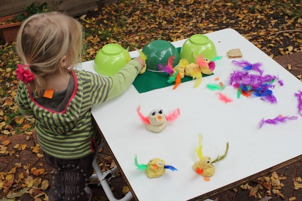 toddler sensory five little duck play