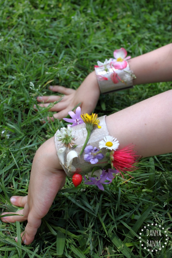 DIY recycled superhero nature cuffs  bracelets for girls