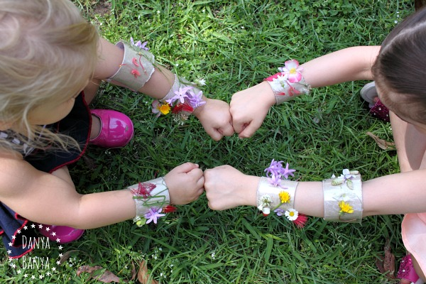 Make your own nature superhero cuffs!