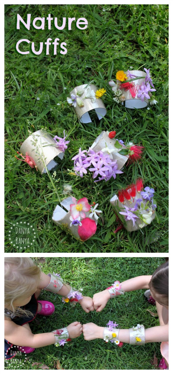 Nature Cuffs - fun flower and nature craft idea for kids