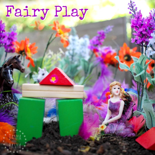 Fairy Play outdoors in the garden