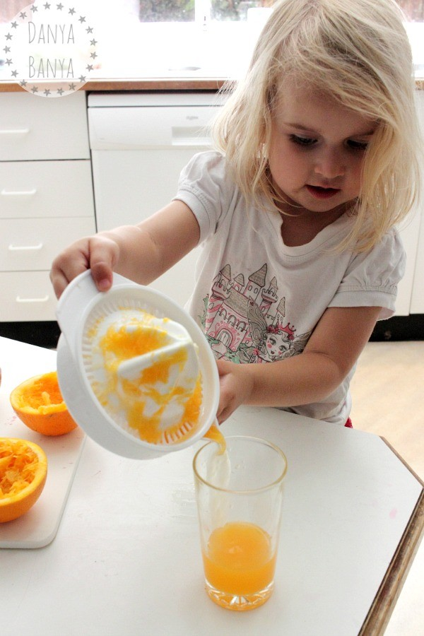 Making orange juice