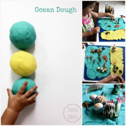 Ocean Dough for under the sea themed imaginative sensory play