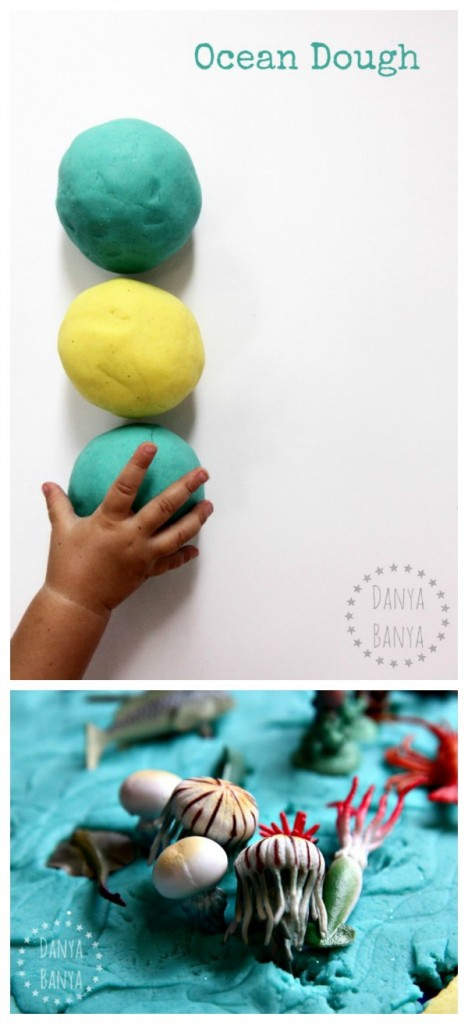 Ocean Dough under the sea themed playdough small world imaginative play for kids