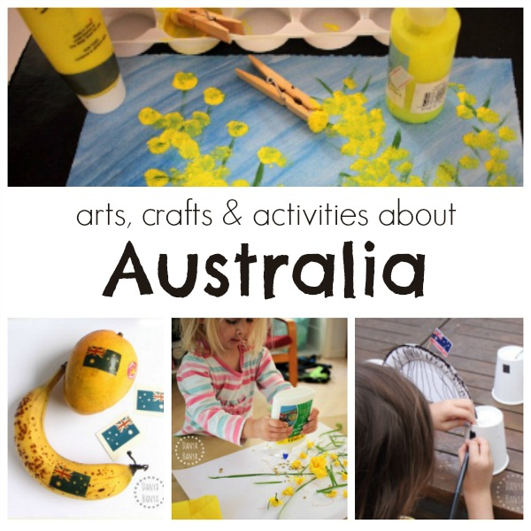 arts, crafts and activities for kids about Australia