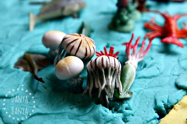 sea jellies in play dough