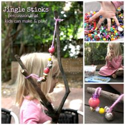 Jingle Sticks - percussion that kids can make and play with