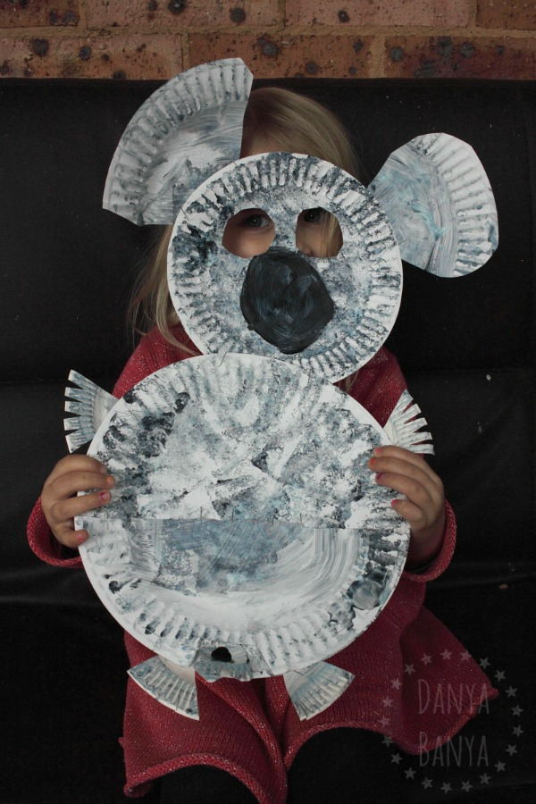 Koala mask craft that kids can make