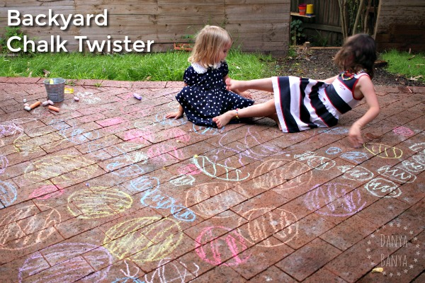 Backyard Chalk Twister Game
