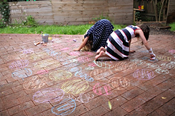Backyard Chalk Twister