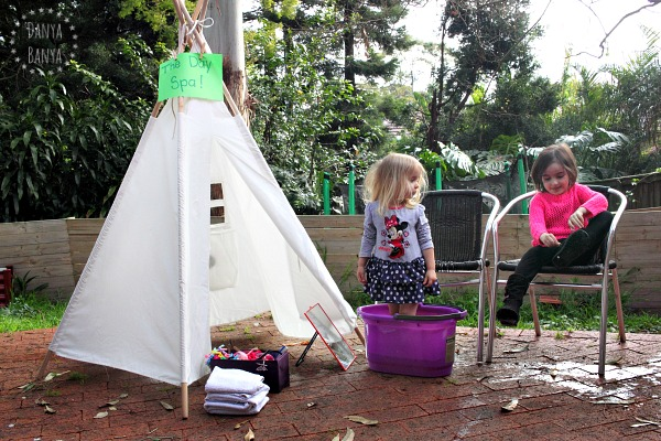 Backyard Day Spa for Kids