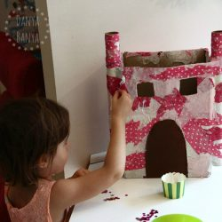 Paper mache princess castle for imaginative play