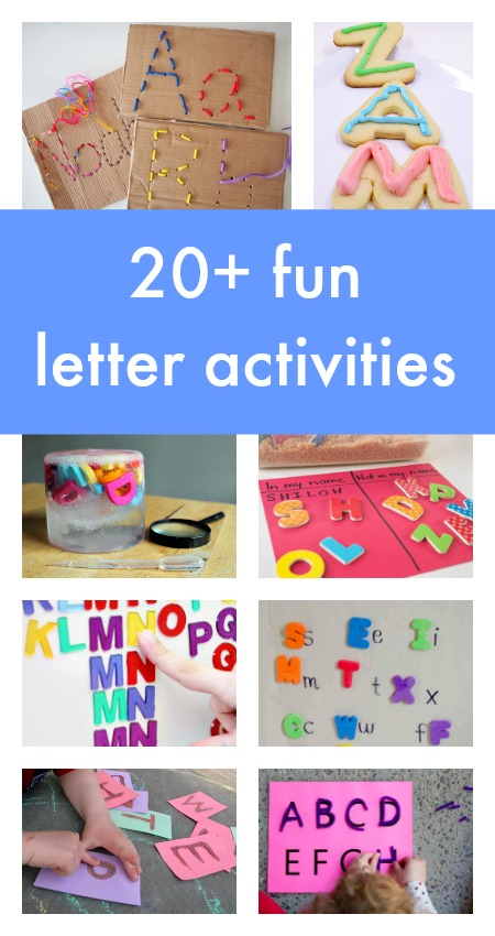 20+ fun letter activities for kids