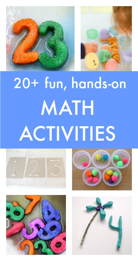 20+ fun hands-on math activities pin