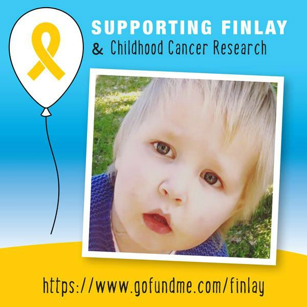 Gold Ribbon for September - Supporting Finlay & Childhood Cancer Research