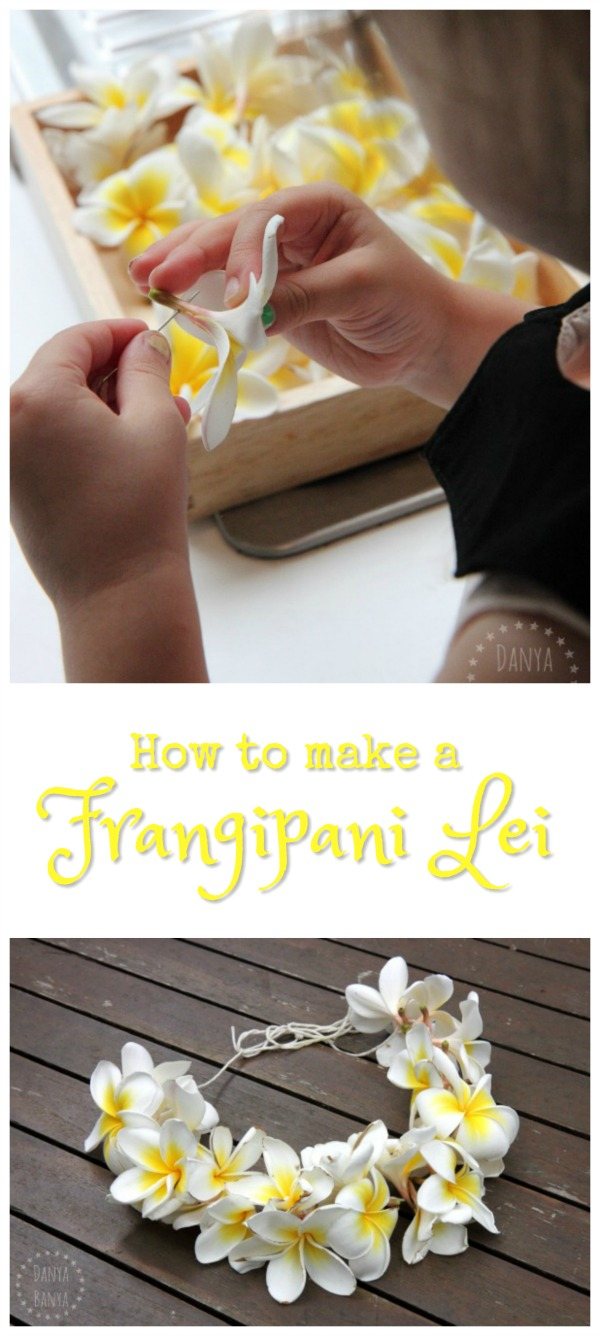 How to make a frangipani lei danya banya how to make a frangipani lei necklace beautiful flower nature craft idea that even little izmirmasajfo