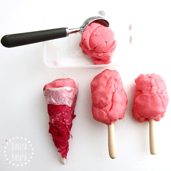 Strawberry ice cream play dough