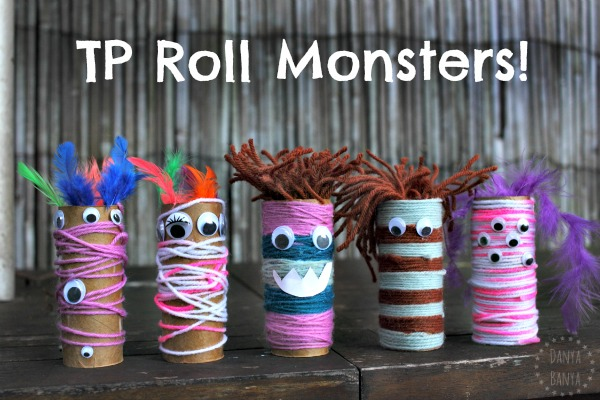 TP Roll Monsters! Fun Halloween or monster theme craft for kids