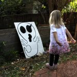 DIY Skull & Ghost Bean Bag Toss Game