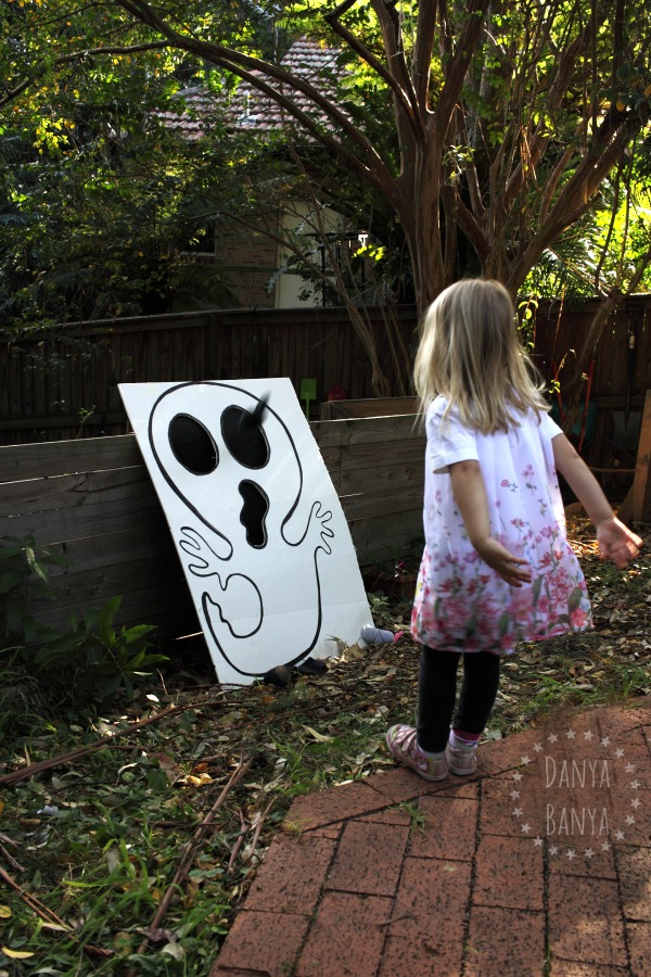 Diy Skull Ghost Bean Bag Toss Game Danya Banya