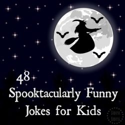 48 spooktacularly funny jokes for kids - great for a spooky party or Halloween