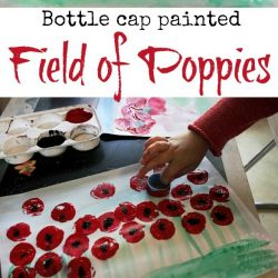 bottle-cap-painted-poppy-field-art-for-kids