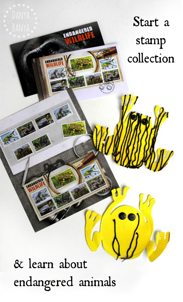 Start a stamp collection and learn about endangered animals including the Southern Corroboree frog