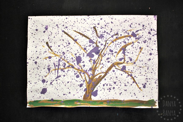 My Jacaranda tree painting