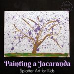Painting Jacaranda Trees: Splatter Art for Kids