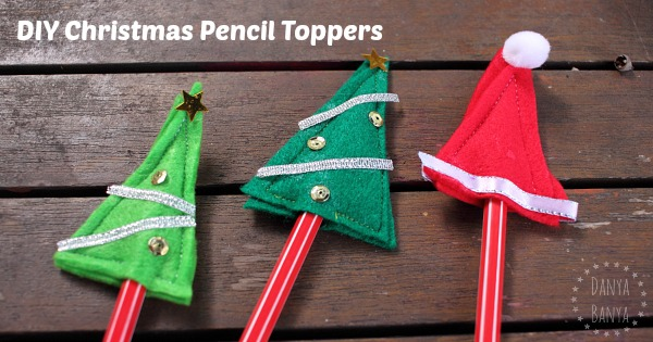 DIY Christmas pencil toppers