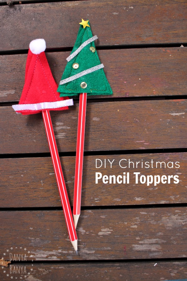 DIY Christmas pencil toppers - perfect non-candy class gift idea for school kids