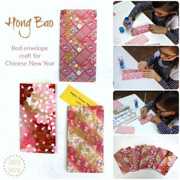 Hong Bao (red envelope) craft idea for Chinese New Year