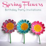 Flower birthday party invitations – DIY tutorial