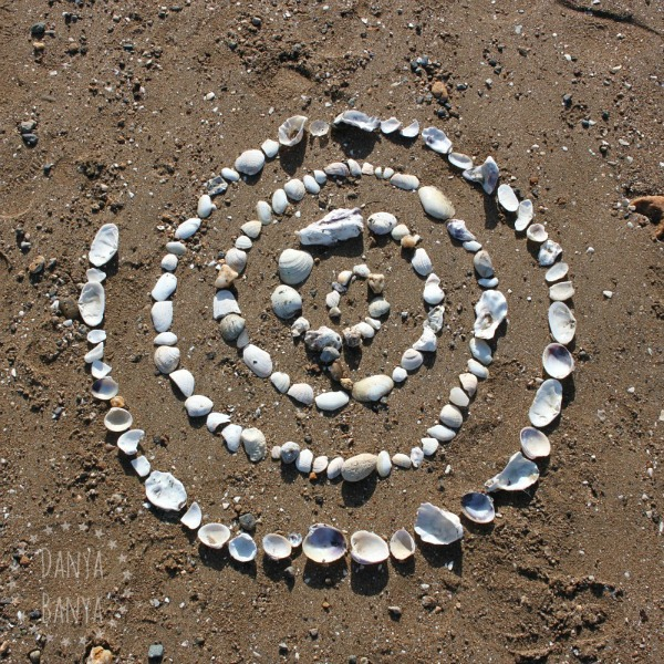 Shell spiral land art