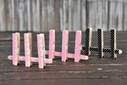 Easy DIY washi tape peg matching and fine motor game for toddlers