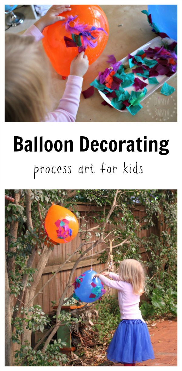 Balloon decorating - process art for kids
