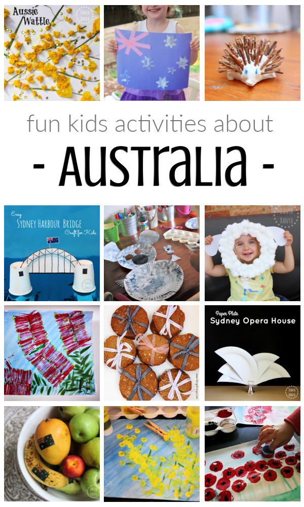 Fun kids activities about Australia
