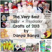 The Very Best Toddler & Preschooler Crafts of 2013 by Danya Banya