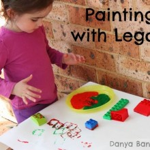 Painting with LEGO Duplo