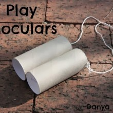 Easy DIY Play Binoculars
